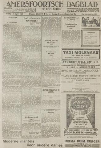 Amersfoortsch Dagblad / De Eemlander 1931-04-25