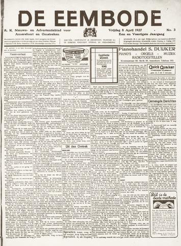 De Eembode 1927-04-08