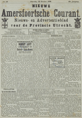 Nieuwe Amersfoortsche Courant 1920-10-23