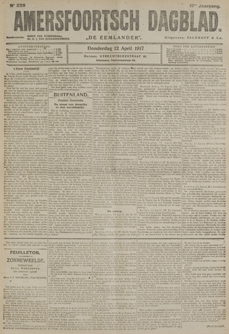 Amersfoortsch Dagblad / De Eemlander 1917-04-12