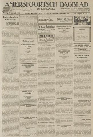 Amersfoortsch Dagblad / De Eemlander 1931-01-20
