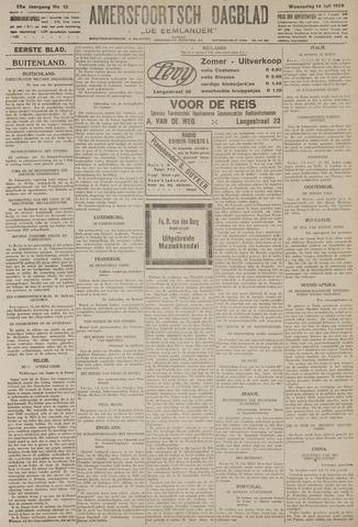 Amersfoortsch Dagblad / De Eemlander 1926-07-14