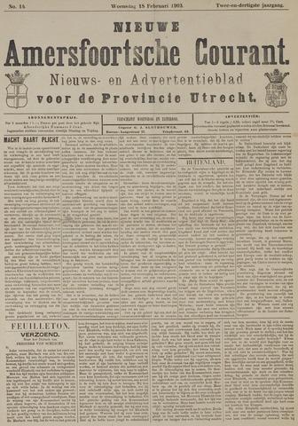 Nieuwe Amersfoortsche Courant 1903-02-18