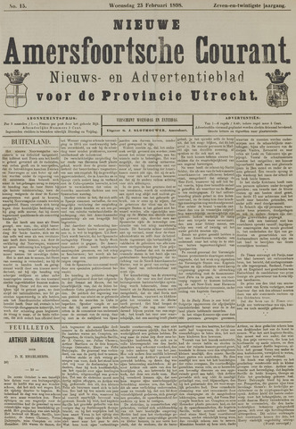Nieuwe Amersfoortsche Courant 1898-02-23