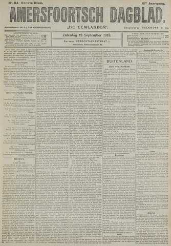 Amersfoortsch Dagblad / De Eemlander 1913-09-13