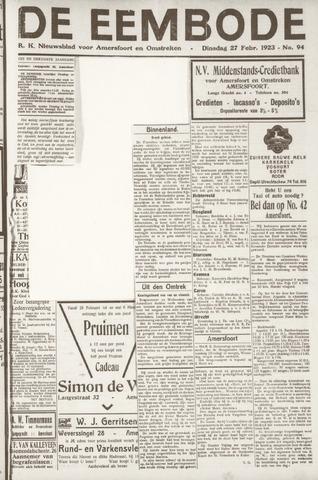 De Eembode 1923-02-27