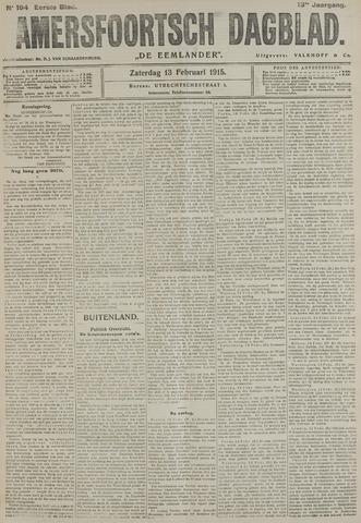 Amersfoortsch Dagblad / De Eemlander 1915-02-13