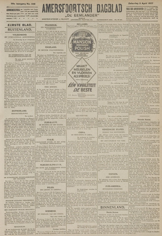 Amersfoortsch Dagblad / De Eemlander 1927-04-02