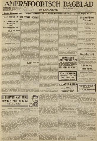 Amersfoortsch Dagblad / De Eemlander 1932-02-22