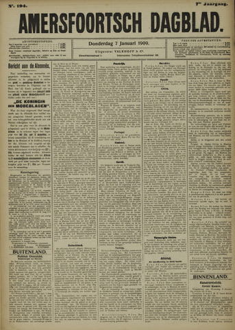 Amersfoortsch Dagblad 1909-01-07