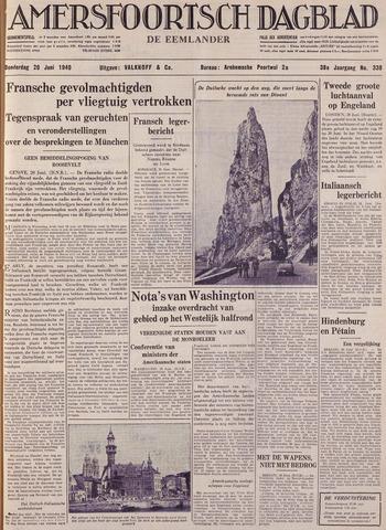 Amersfoortsch Dagblad / De Eemlander 1940-06-20