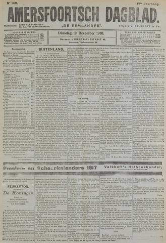 Amersfoortsch Dagblad / De Eemlander 1916-12-19