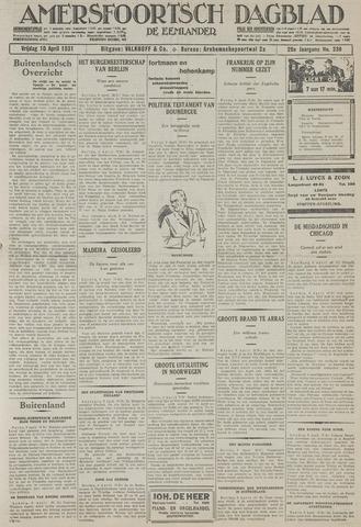 Amersfoortsch Dagblad / De Eemlander 1931-04-10