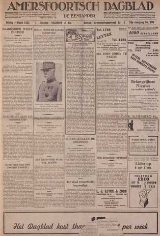 Amersfoortsch Dagblad / De Eemlander 1935-03-01