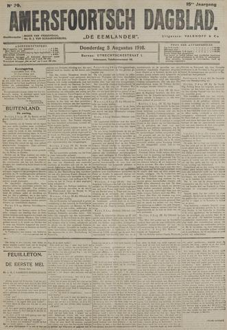 Amersfoortsch Dagblad / De Eemlander 1916-08-03
