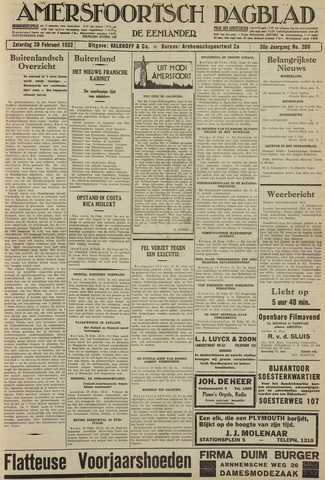 Amersfoortsch Dagblad / De Eemlander 1932-02-20