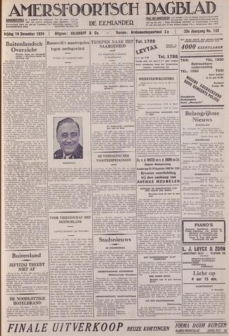 Amersfoortsch Dagblad / De Eemlander 1934-12-14