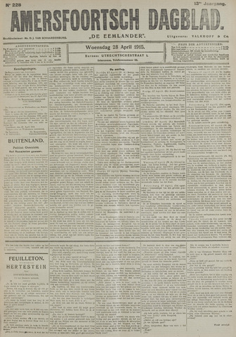 Amersfoortsch Dagblad / De Eemlander 1915-04-28
