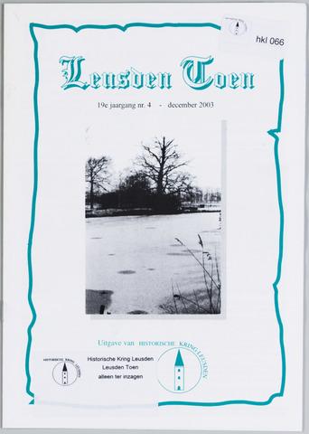Historische Kring Leusden 2003-12-01