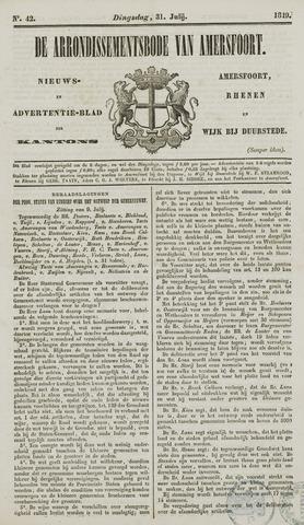 Arrondissementsbode van Amersfoort 1849-07-31