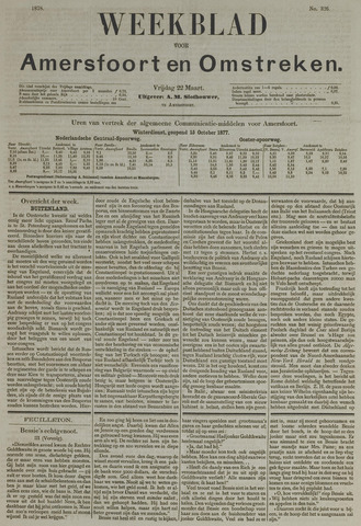 Weekblad voor Amersfoort en Omstreken 1878-03-22