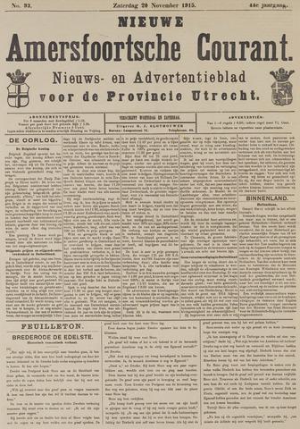 Nieuwe Amersfoortsche Courant 1915-11-20