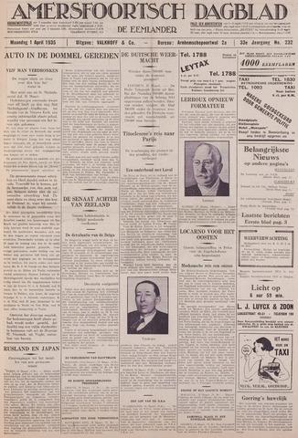 Amersfoortsch Dagblad / De Eemlander 1935-04-01