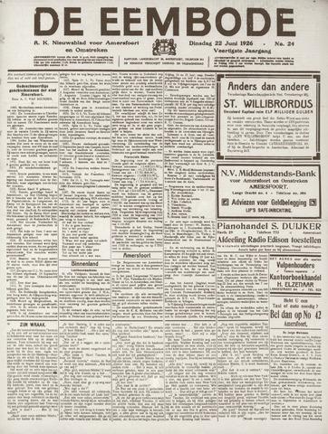 De Eembode 1926-06-22