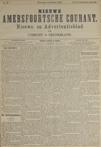 Nieuwe Amersfoortsche Courant 1893-10-18