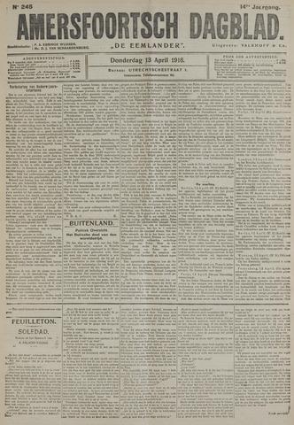 Amersfoortsch Dagblad / De Eemlander 1916-04-13