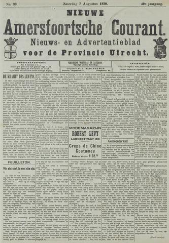 Nieuwe Amersfoortsche Courant 1920-08-07