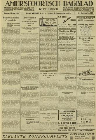 Amersfoortsch Dagblad / De Eemlander 1934-06-16