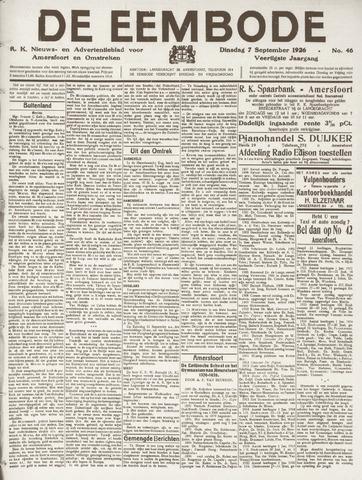 De Eembode 1926-09-07