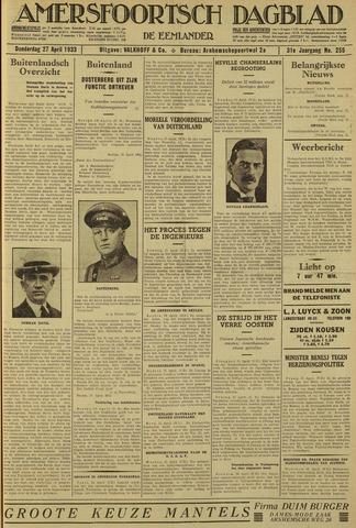 Amersfoortsch Dagblad / De Eemlander 1933-04-27