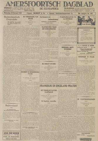 Amersfoortsch Dagblad / De Eemlander 1931-02-25