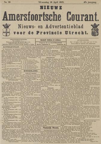 Nieuwe Amersfoortsche Courant 1918-04-10