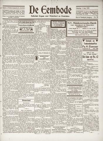 De Eembode 1932-08-02