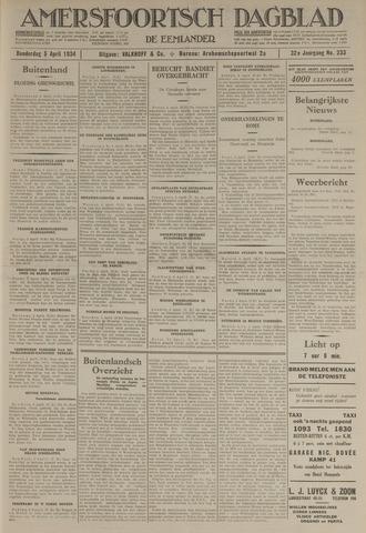Amersfoortsch Dagblad / De Eemlander 1934-04-05