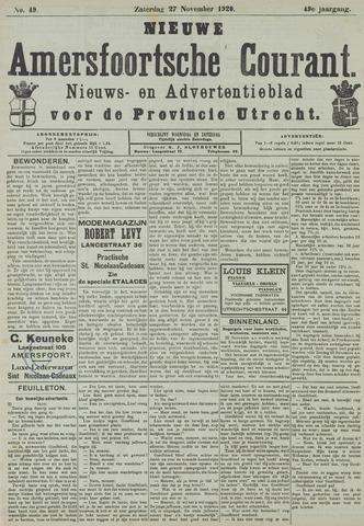 Nieuwe Amersfoortsche Courant 1920-11-27
