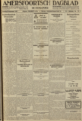 Amersfoortsch Dagblad / De Eemlander 1932-09-26