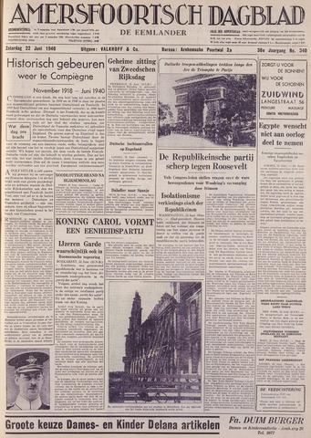 Amersfoortsch Dagblad / De Eemlander 1940-06-22