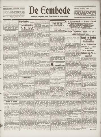 De Eembode 1933-08-22