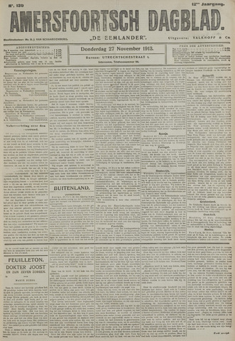 Amersfoortsch Dagblad / De Eemlander 1913-11-27
