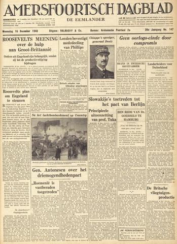 Amersfoortsch Dagblad / De Eemlander 1940-12-18