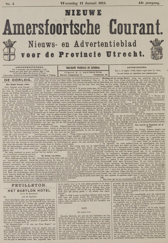 Nieuwe Amersfoortsche Courant 1915-01-13