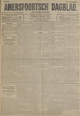 Amersfoortsch Dagblad / De Eemlander 1916-01-21
