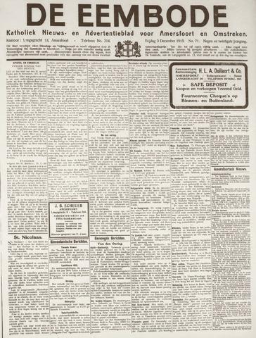 De Eembode 1915-12-03