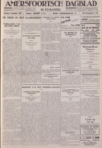 Amersfoortsch Dagblad / De Eemlander 1934-11-06