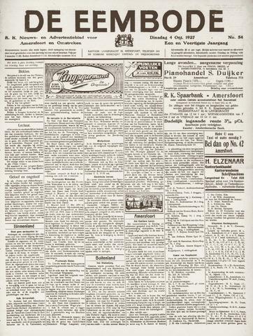 De Eembode 1927-10-04