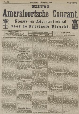 Nieuwe Amersfoortsche Courant 1917-11-07